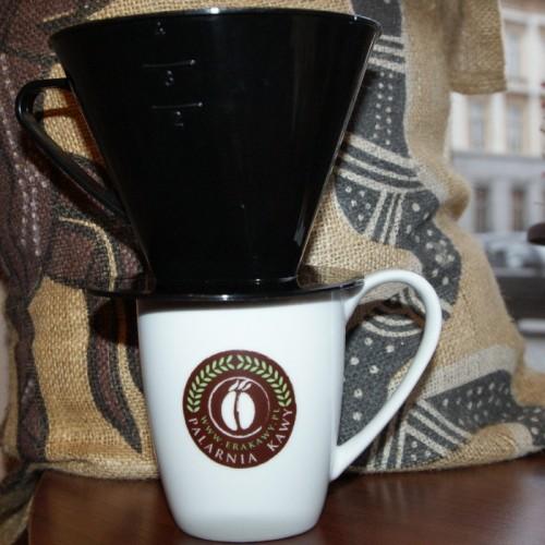 Dripper (drip, filtr) do zaparzania kawy (kolor czarny)