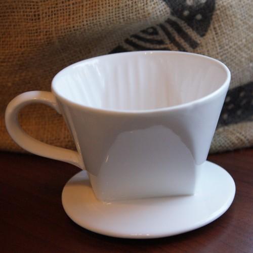Porcelanowy dripper (drip, filtr) do zaparzania kawy rozmiar 4