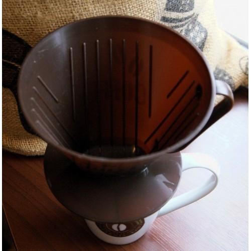 Dripper (drip, filtr) do zaparzania kawy (kolor brązowy)