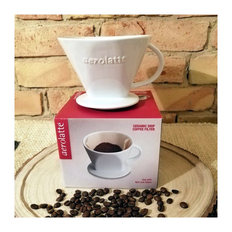 Porcelanowy dripper (drip, filtr) do zaparzania kawy